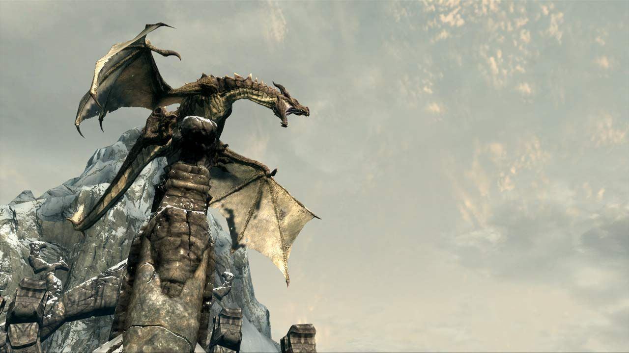 The Elder Scrolls V Skyrim dragon roaaaar
