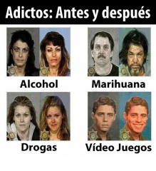 Adictos: Antes y Despues